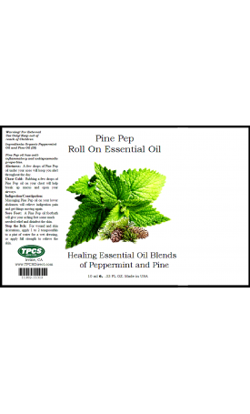 Pine Pep Essential Oil Roll (0.33oz.)