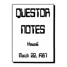 Alive! (Research) Notes - 1987